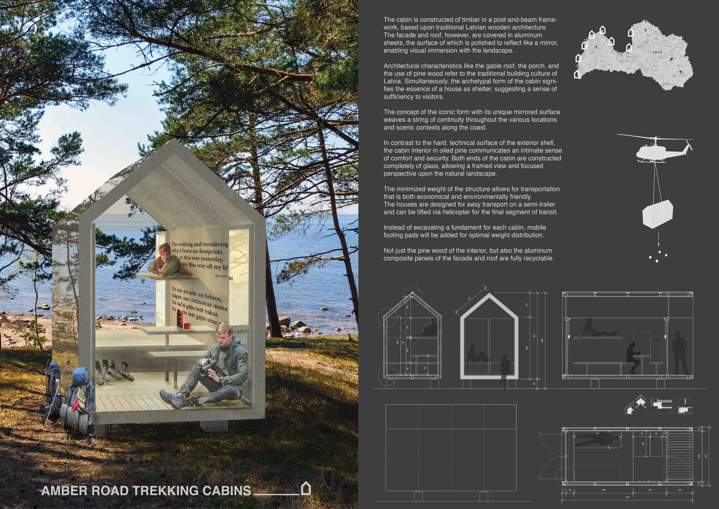 AMBER ROAD TREKKING CABINS / Latvia — element design
