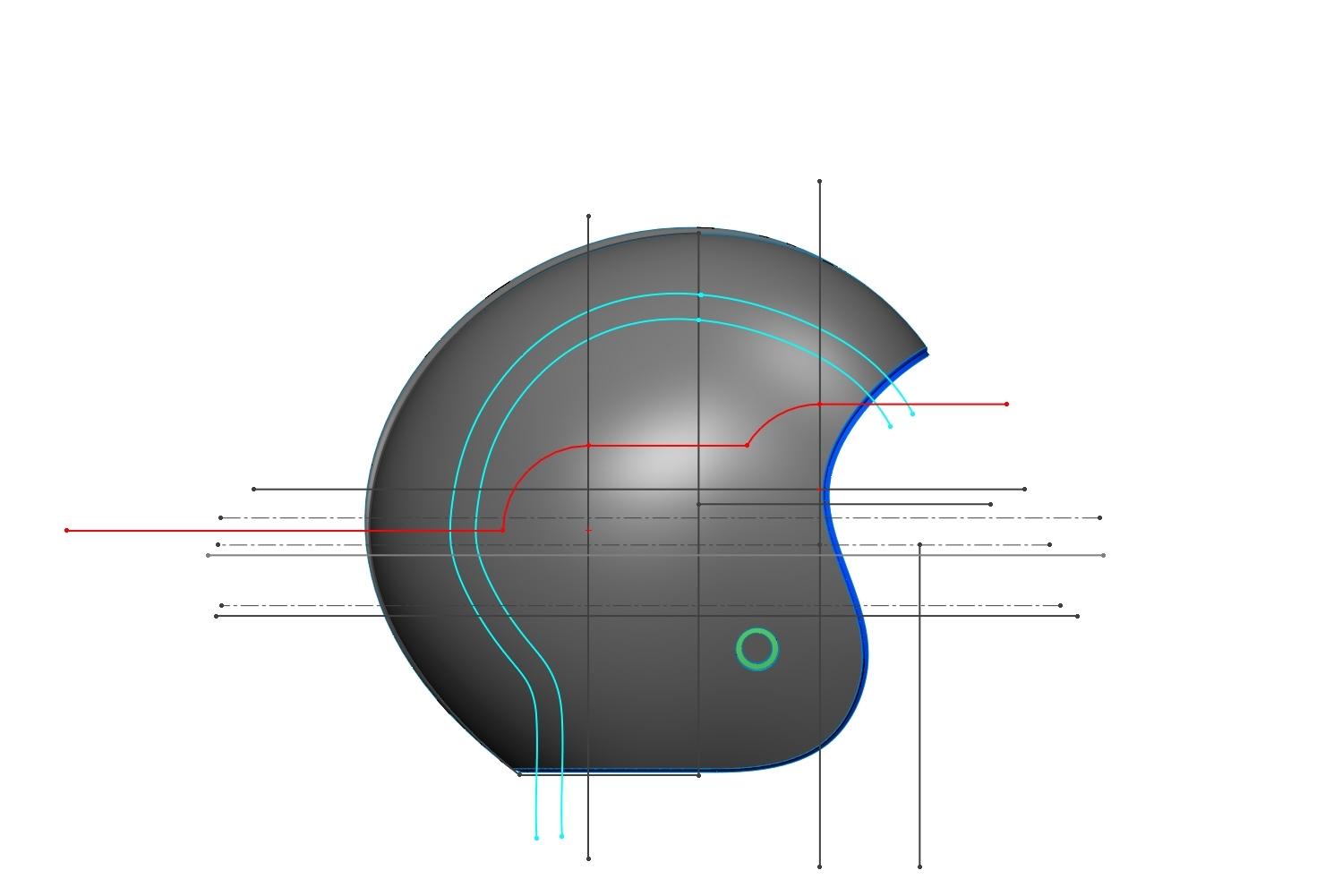 The basic lines - R&D  - Helmet design