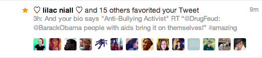 The activity of people favoriting my tweets now shows up in my Twitter experience. Twitter be snitchin yall.