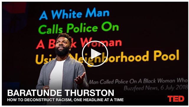 "I am releasing something into the world, and it's filled with joy and pain and sadness and much absurdity. My official @ted talk is live, and you can find it via the link in my profile to baratunde.com/livingwhileblack. ⠀⠀⠀⠀⠀⠀⠀⠀⠀ The title: ""How to deconstruct racism one headline at a time"" ⠀⠀⠀⠀⠀⠀⠀⠀⠀ The topic: That strange, frustrating, unsurprising, phenomenon of white people calling the police on people who are just #livingwhileblack. ⠀⠀⠀⠀⠀⠀⠀⠀⠀ The process: I literally collected every story of the #BBQBecky type, immersing myself in all that I could find, and in those headlines I spotted a pattern which turned into a key which unlocked a truth... about the nature and structure of oppression, and about how we can imagine our way into something much better, a sort of mutual liberation. ⠀⠀⠀⠀⠀⠀⠀⠀⠀ When I left the stage -- and I left it ALL on the stage -- I exploded into tears at the release of so much I've been sitting on. I didn't realize how heavy I had been until I felt how light I was on the other side. ⠀⠀⠀⠀⠀⠀⠀⠀⠀ I can't wait for you to see what I've seen, so we can write a better future into being. Get the full experience at baratunde.com/livingwhileblack including some bonus video of an unplanned moment that happened right after my talk. ⠀⠀⠀⠀⠀⠀⠀⠀⠀ This moment is a major transition for me and my work. With this talk, I'm also launching a way for you to join and support what I do through the @Patreon platform. I'm so fired up yall. Things seem so very terrible, and yet we have such an opportunity to make them so very right. ⠀⠀⠀⠀⠀⠀⠀⠀⠀ Major appreciation to: @eji_org, @colorofchange, #centerforpolicingequity, @glitchdotcom, #UShistory #blacktwitter #wakanda ⠀⠀⠀⠀⠀⠀⠀⠀⠀ #TED #tedtalk #baratunde #baratundethurston #livingwhileblack #bbqbecky #race #racism #usa #america #liberation #justice #trauma #healing #black #africanamerican #history"