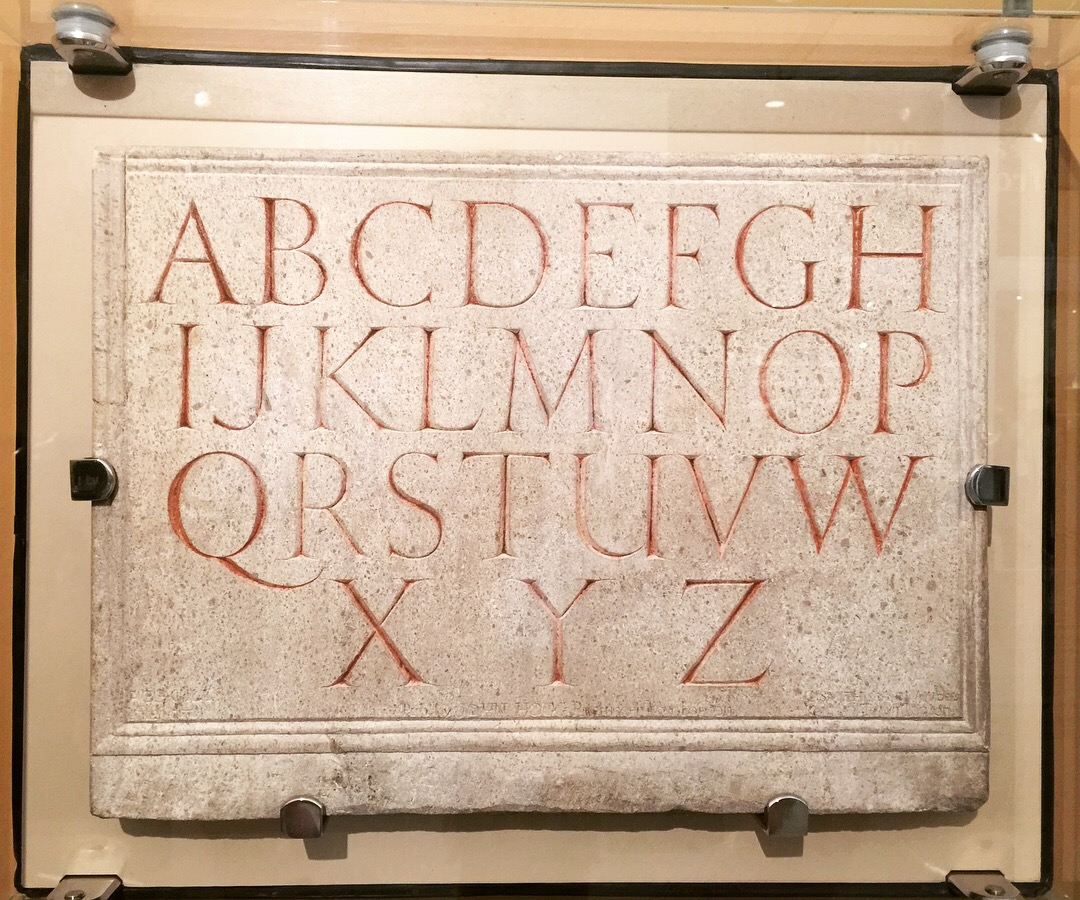 The original Gill alphabet in the V&A.