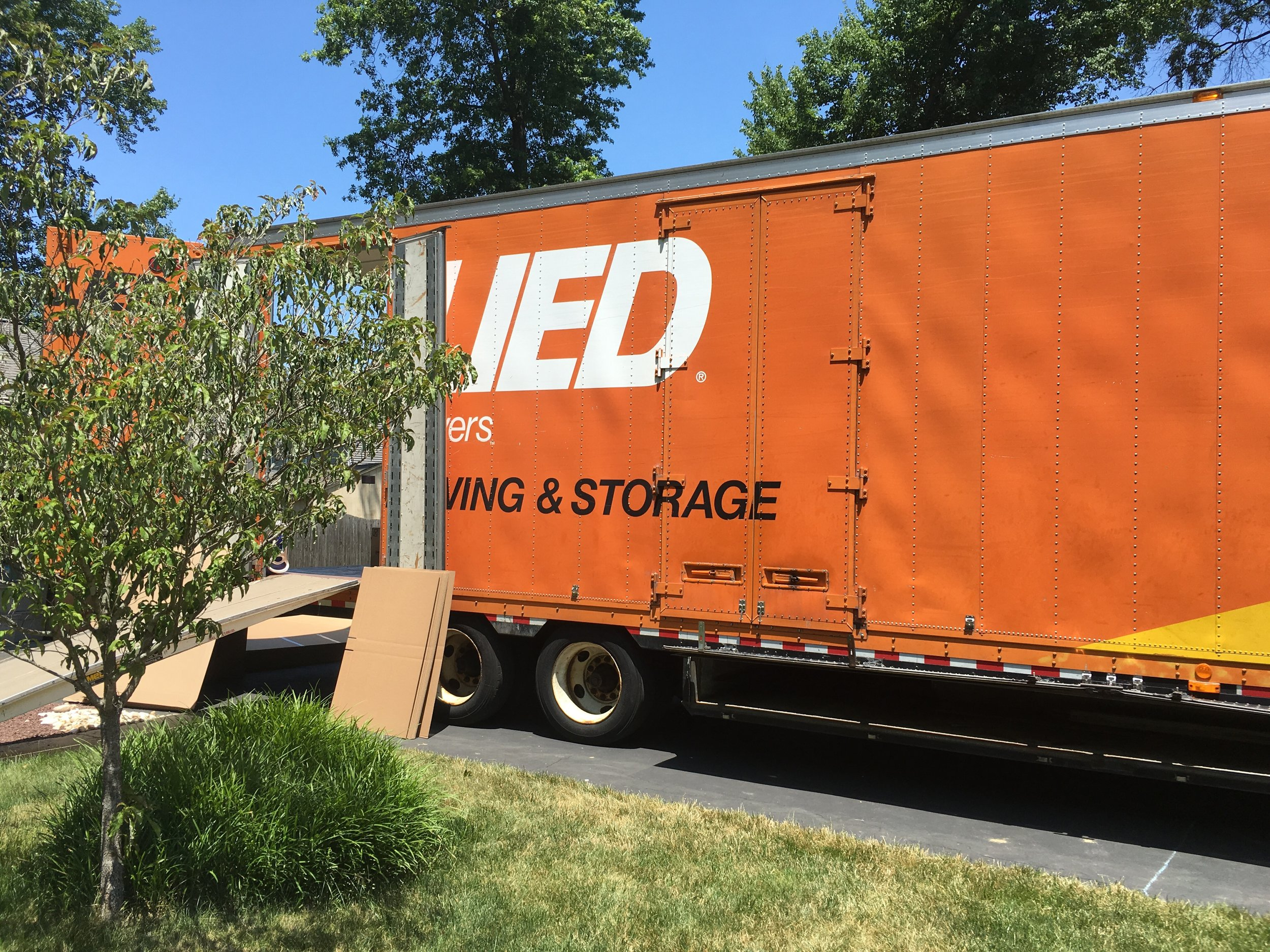 Packing up the moving truck