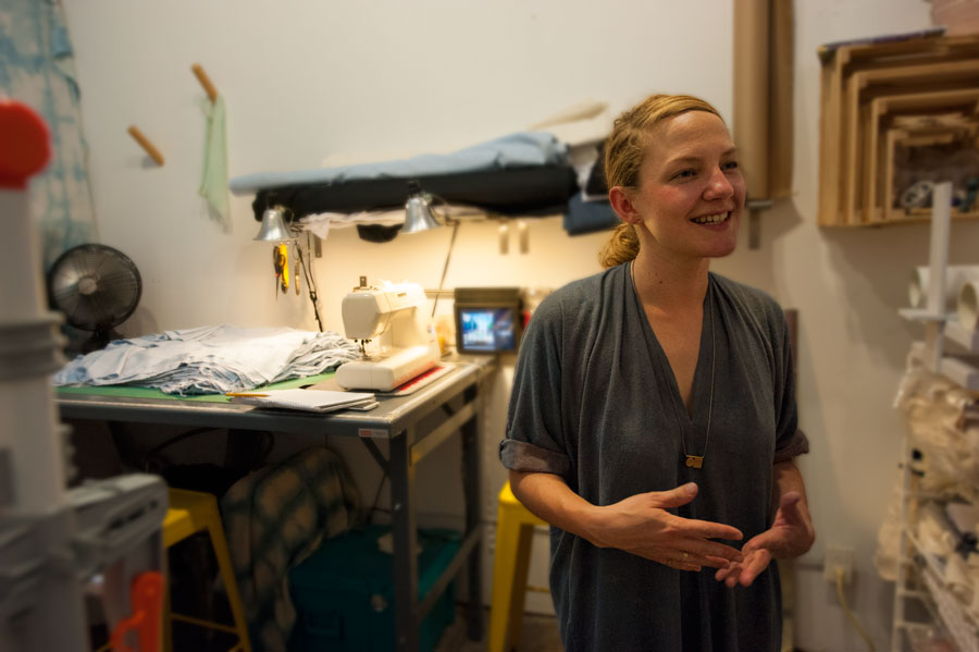Miranda in her studio  IMAGE MB-01