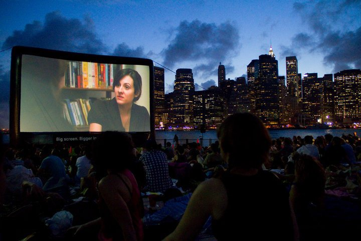 """Abbie Cancelled"" opens for ""Annie Hall"" by Woody Allen as part of the Movies with a View Series at the Brooklyn Bridge Park!"