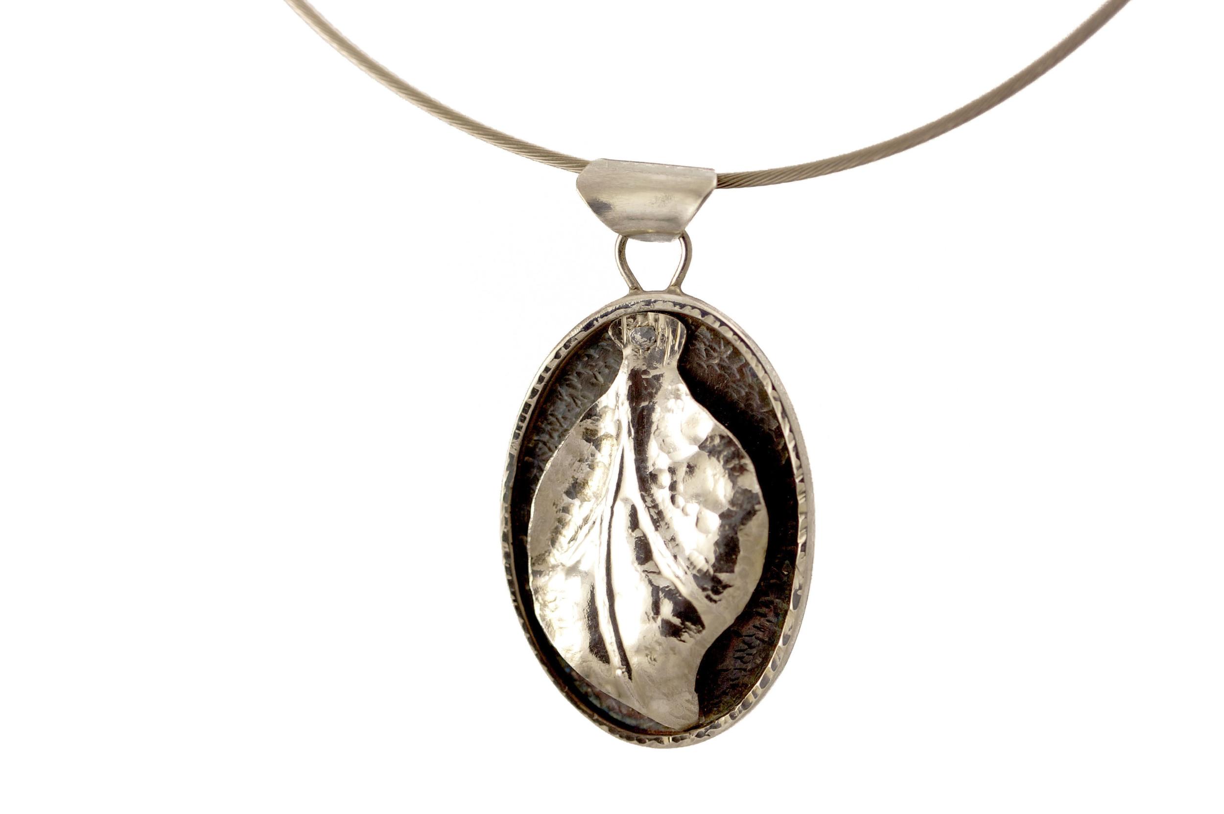 Silver Leaf Pendant.