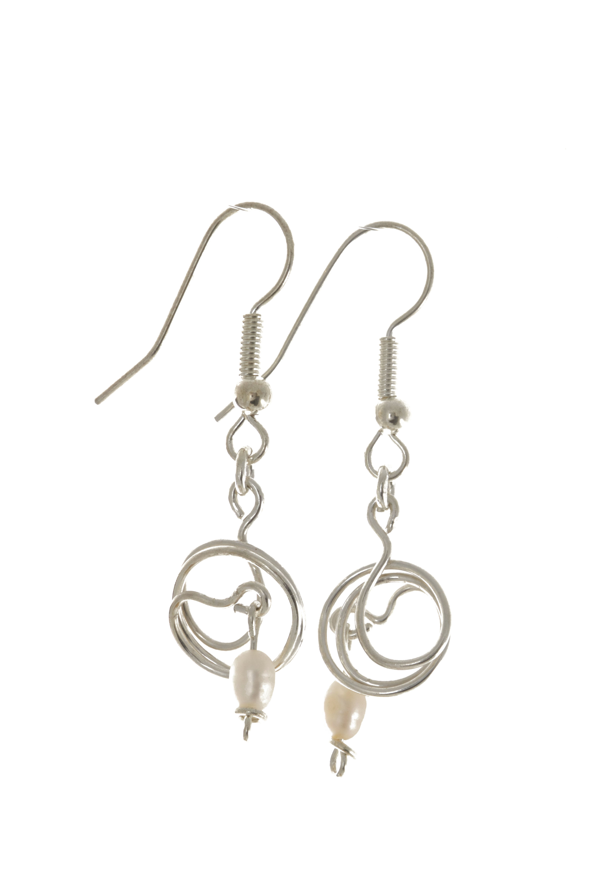 Silver and Pearl earrings.