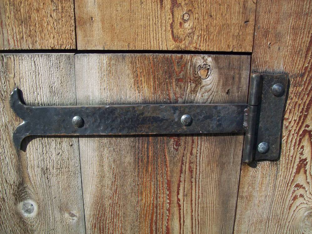 One of our   Hand-forged strap hinges