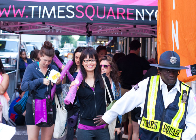 Summer Solstice at Times Square with bw design Managing Director Rachel Lu