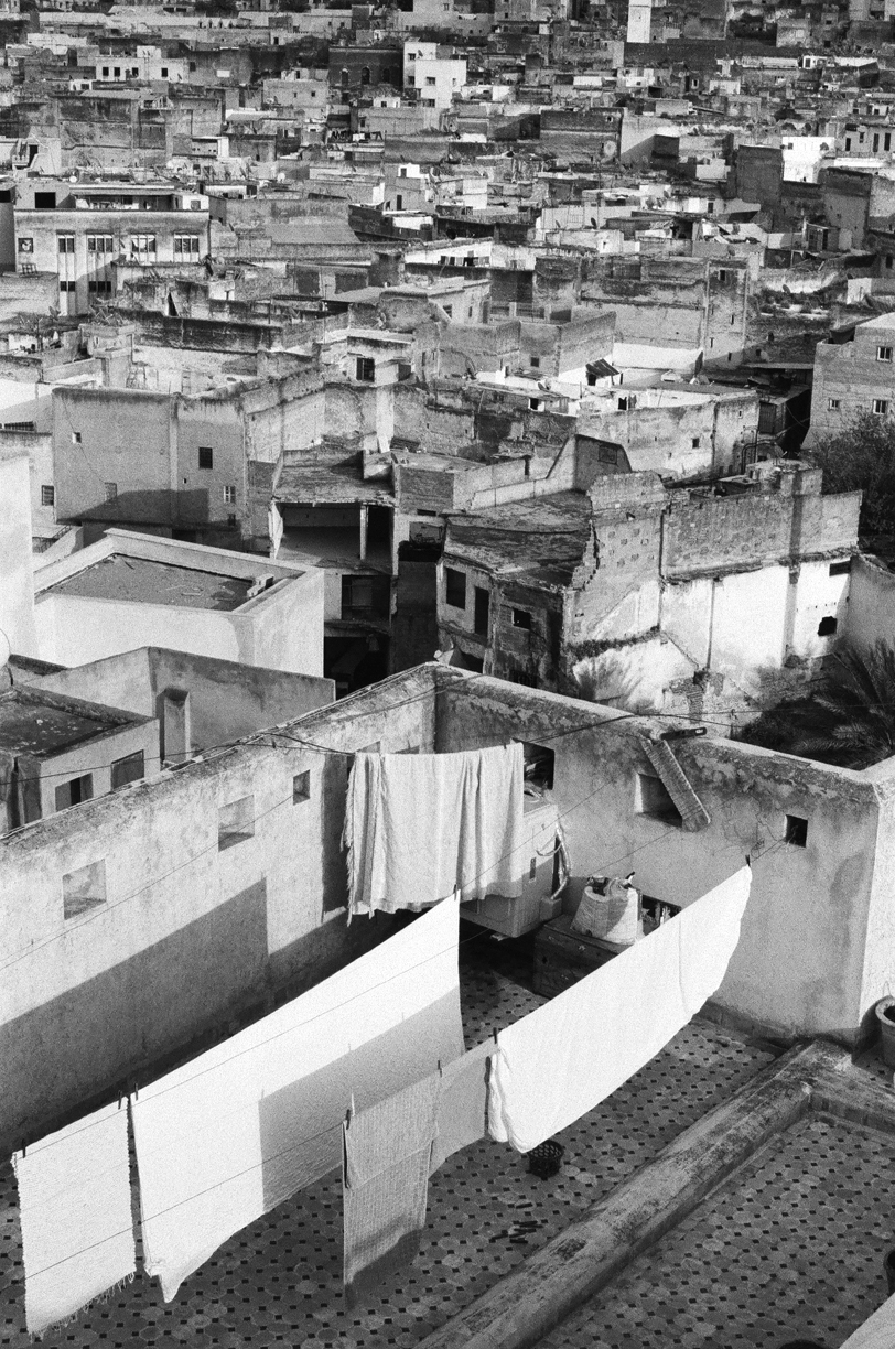 Drying Sheets on Roof Deck in Fez_medina of Fez_web.jpg