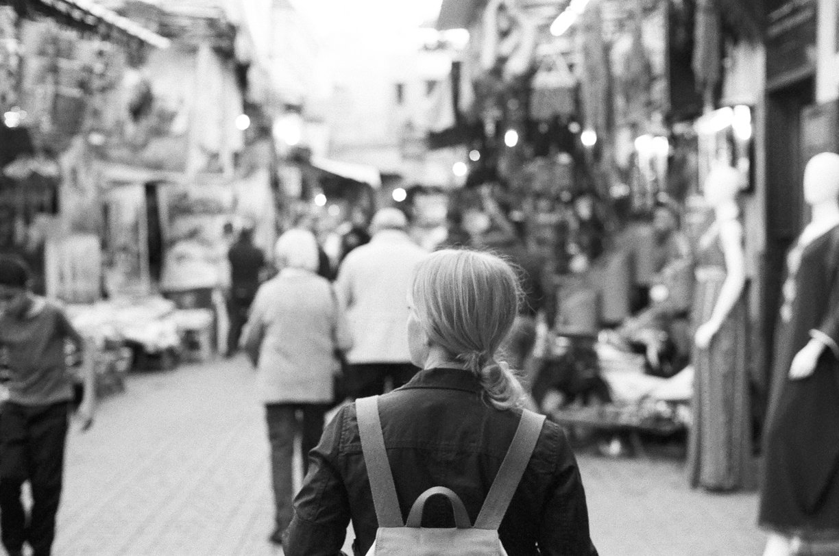 Back of Allison while walking in Marrakech medina_web.jpg