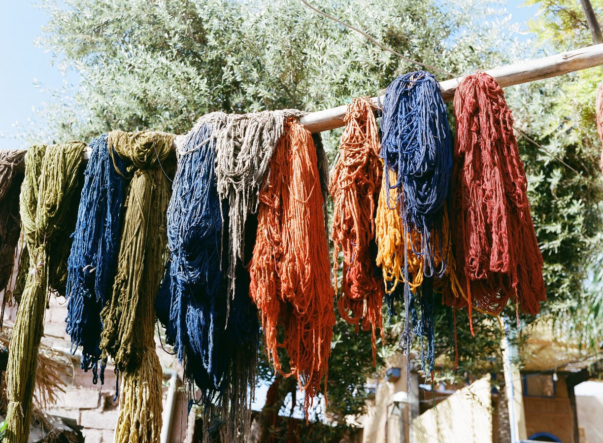 Dyed Camel Hair Used for Scarves