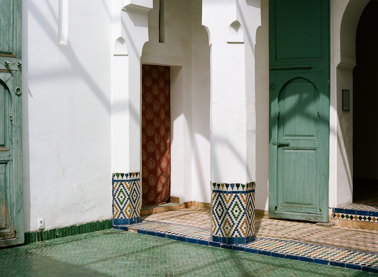 Courtyard with green tile at museum_Light shadows_Marrakech_web.jpg