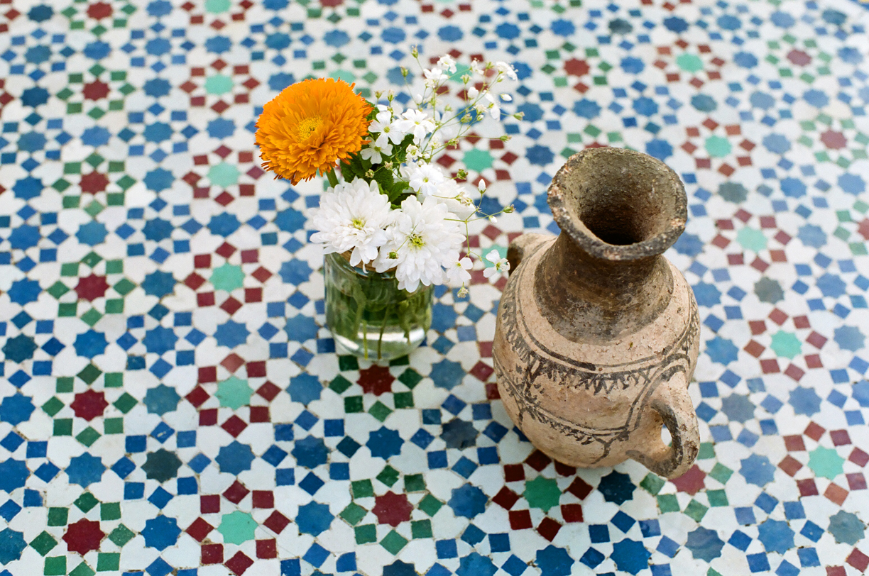 Tile Table with Flower and Clay Pot_Riad Jardin Still Life_web.jpg