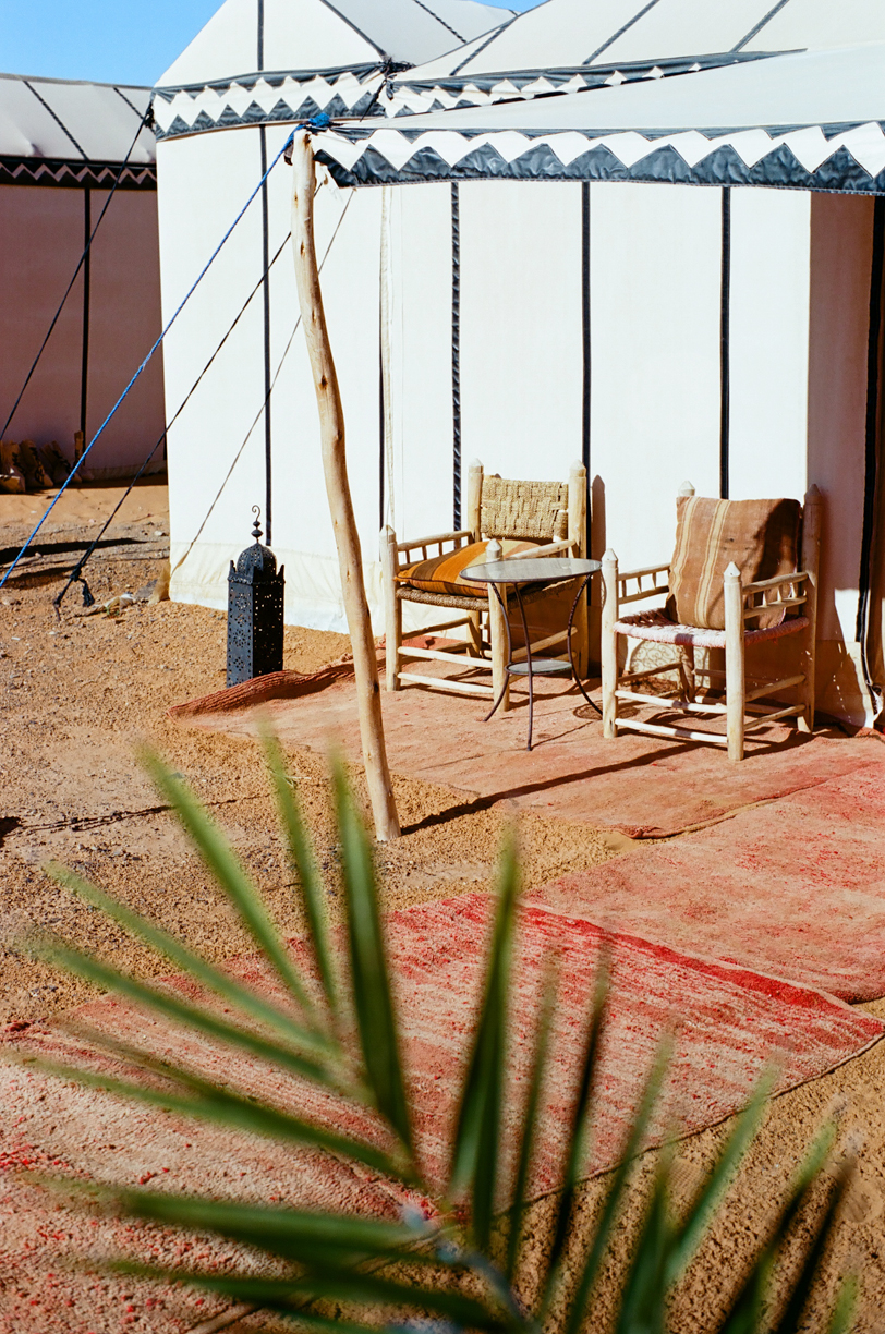 Chairs and Table Outside Tent Entrance_Sahara Desert Luxury Camp_web.jpg