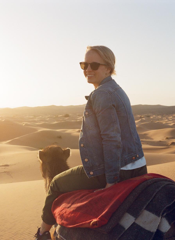 Allison Smiling on Camel at Sunset_web.jpg