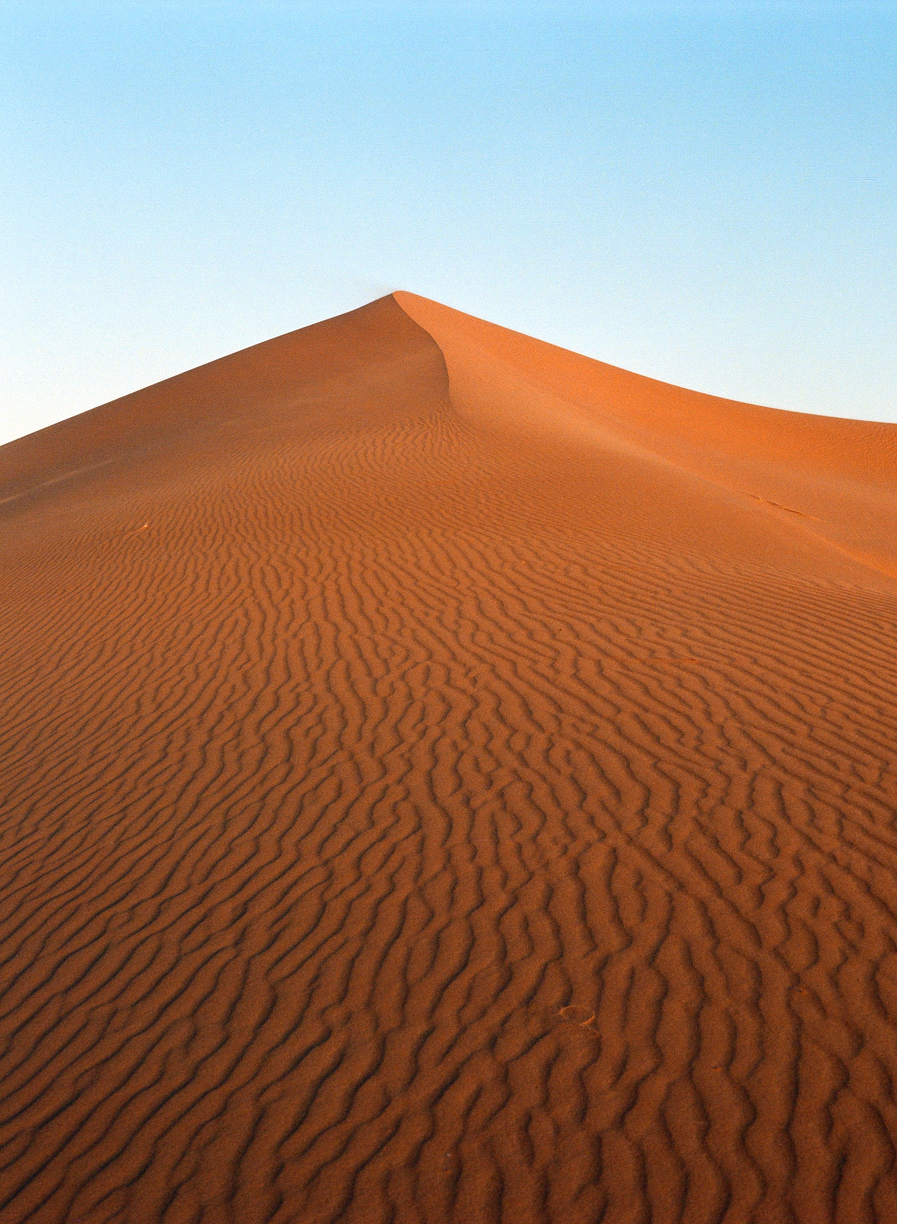 Desert Hill with sand wave lines at dusk_sunset camel ride_web.jpg