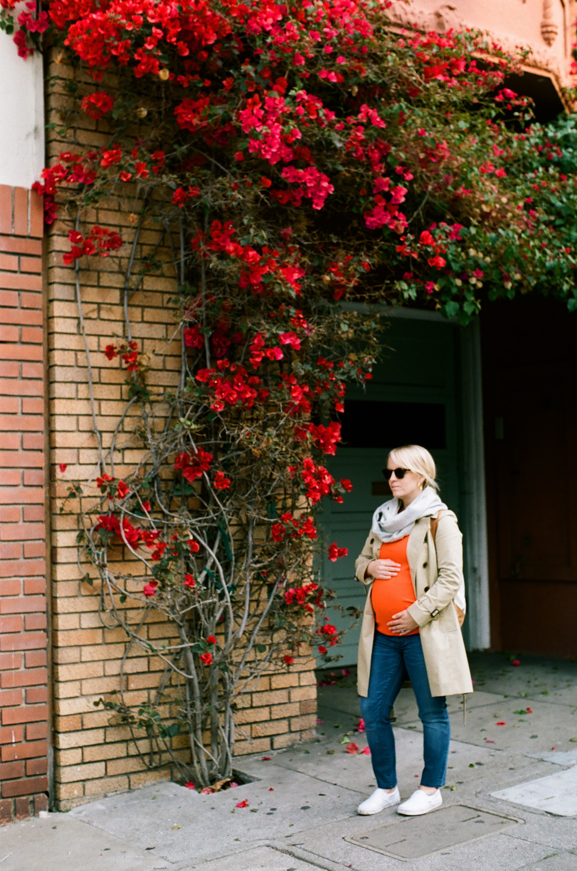 Allison and Baby Bump with Bougainvillea_San Fran.jpg