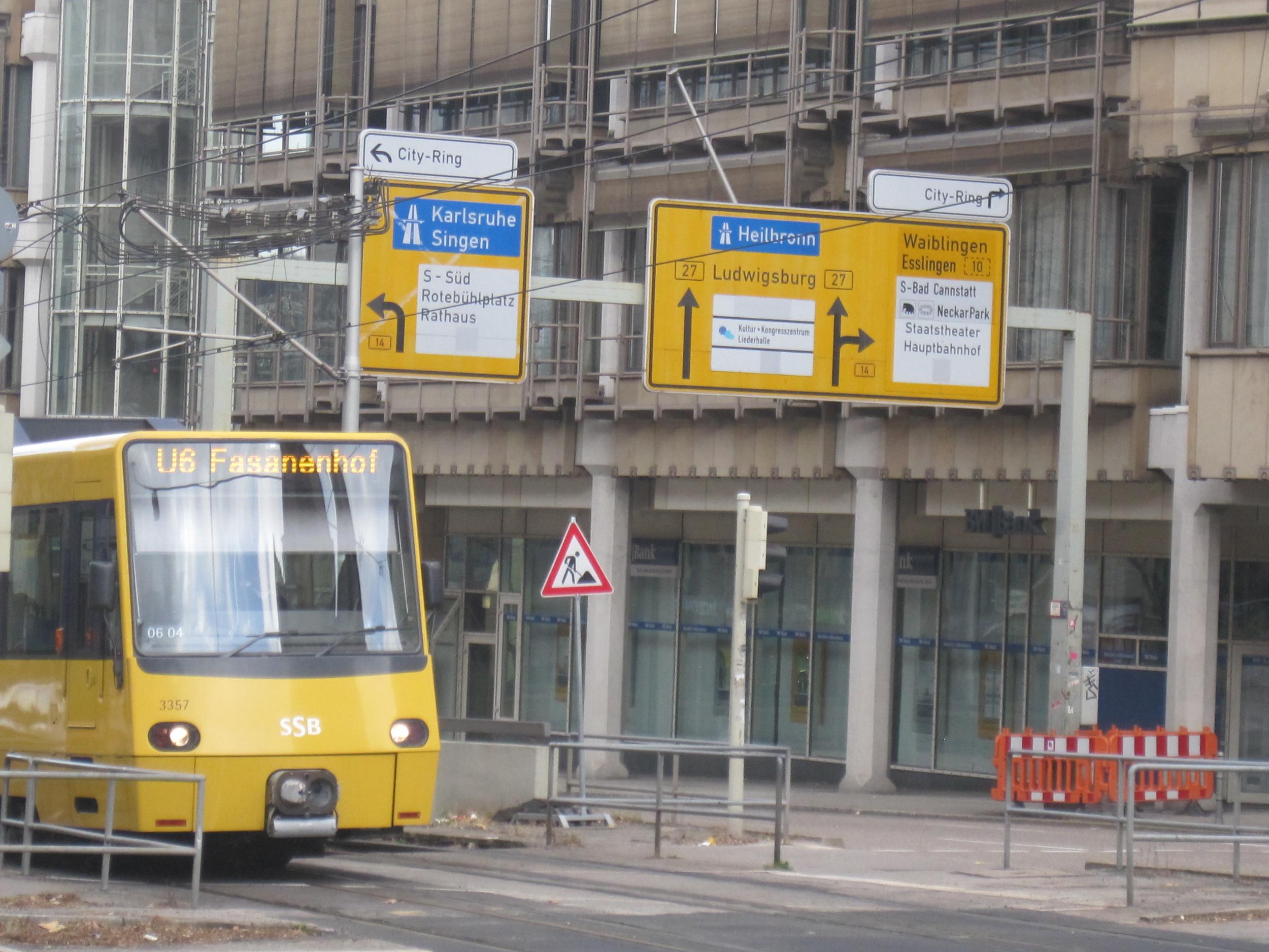 Stuttgart's light rail (SSB) receives signal prioritization at all intersections across the region.   (photo:    roger skalbeck   )