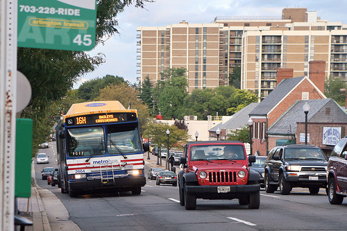 """Colombia Pike in Arlington, VA where streetcar is being proposed. Photo source: cliff1066â""""¢ on Flickr."""