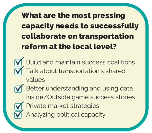 Key Capacity Building needs for advocates and funders to address. See final report for more details.