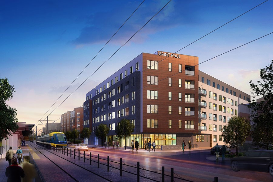 2700 University is one of 3 case studies featured in the recent MZ Strategies, LLC policy brief on Mixed Income Housing in the Twin Cities, funded by the McKnight Foundation (photo: courtesy of Flaherty and Collins)