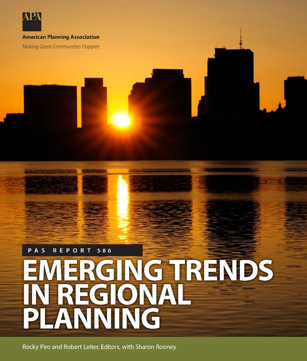 Regional planning is alive and thriving across the United States. Emerging trends include greater regional engagement in economic planning, resilience and sustainability, and cutting edge technologies to solve problems and engage the public.  Download the report  to learn more.