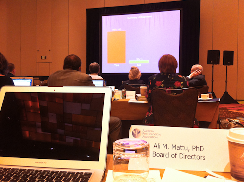 """I was proud to vote """"yes"""" and join the majority of APA Council Members in approving the Internship Stimulus Package."""