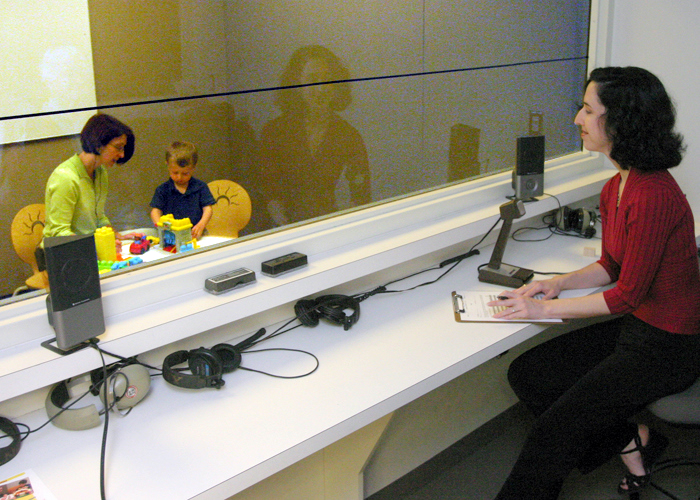 Parent Child Interaction Therapy is a great example of an evidence-based intervention at work. Photo courtesy ofDr.Larissa Niec's psychology lab.