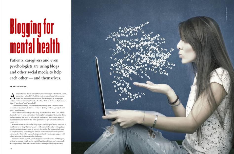 Ali Mattu blogging for mental health