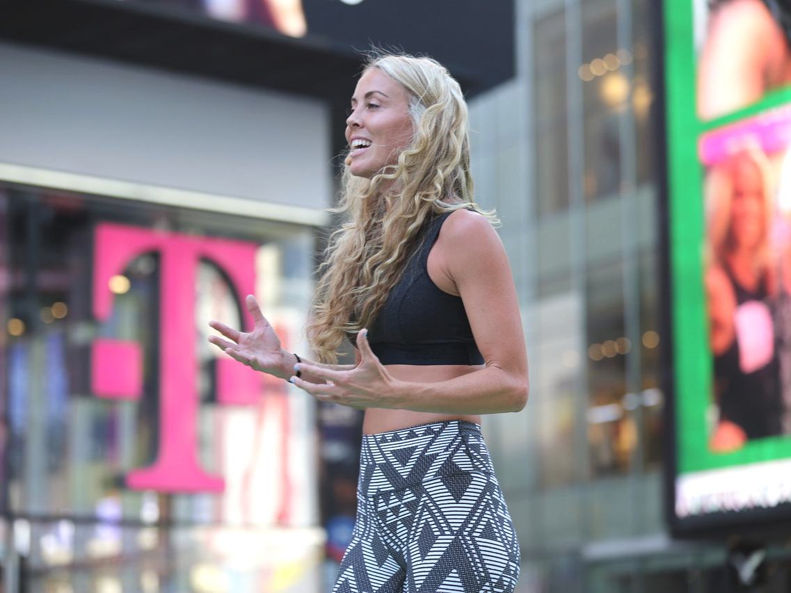 Featured speaker at Aerie Summer Solstice Event in Times Square, NYC - thousands in attendance, such a dream!