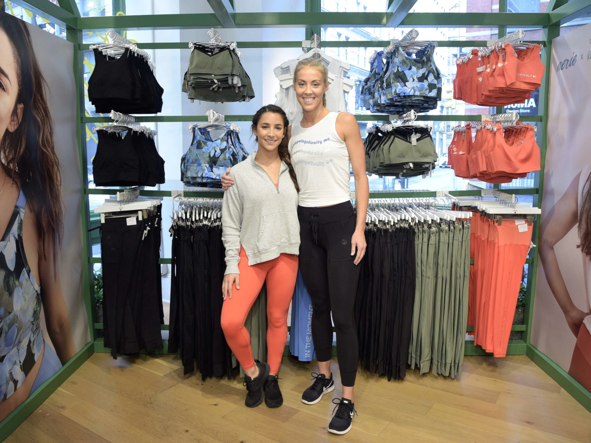 Joined forces with Aly Raisman to launch her new Aerie x line - proceeds benefiting Darkness to Light, a non-profit that works to prevent child sexual abuse.
