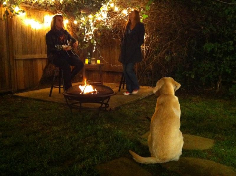 carols by a fire(pit)