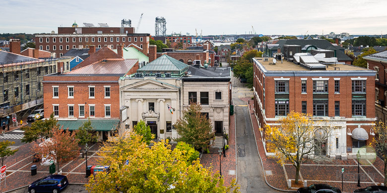 The view from the roof of the North Church, Portsmouth, New Hampshire