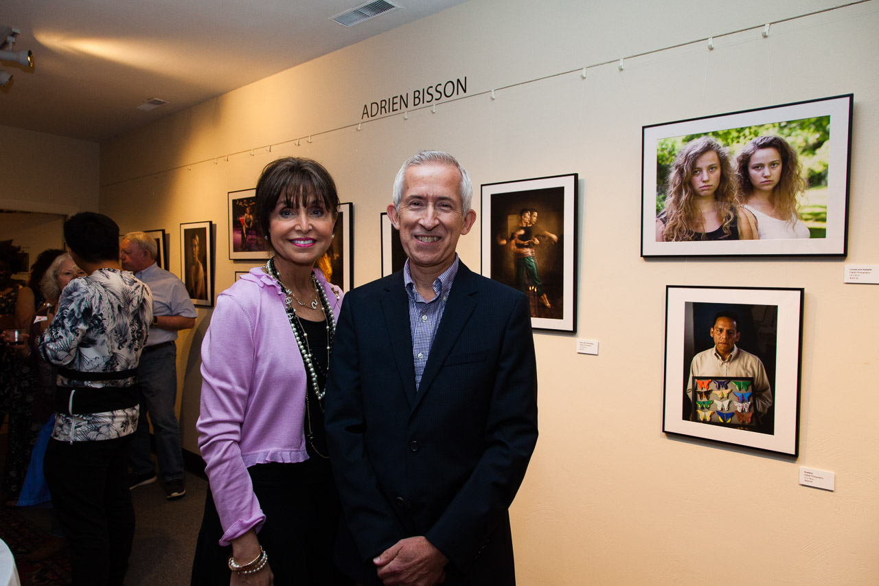 Whistler House Museum of Art's President and Executive Director, Sara Bogosian with Adrien Bisson