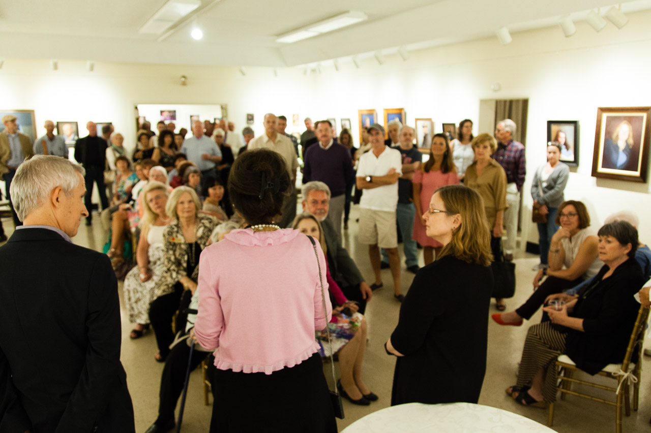 The Portrait Experience reception at the Whistler House Museum of Art