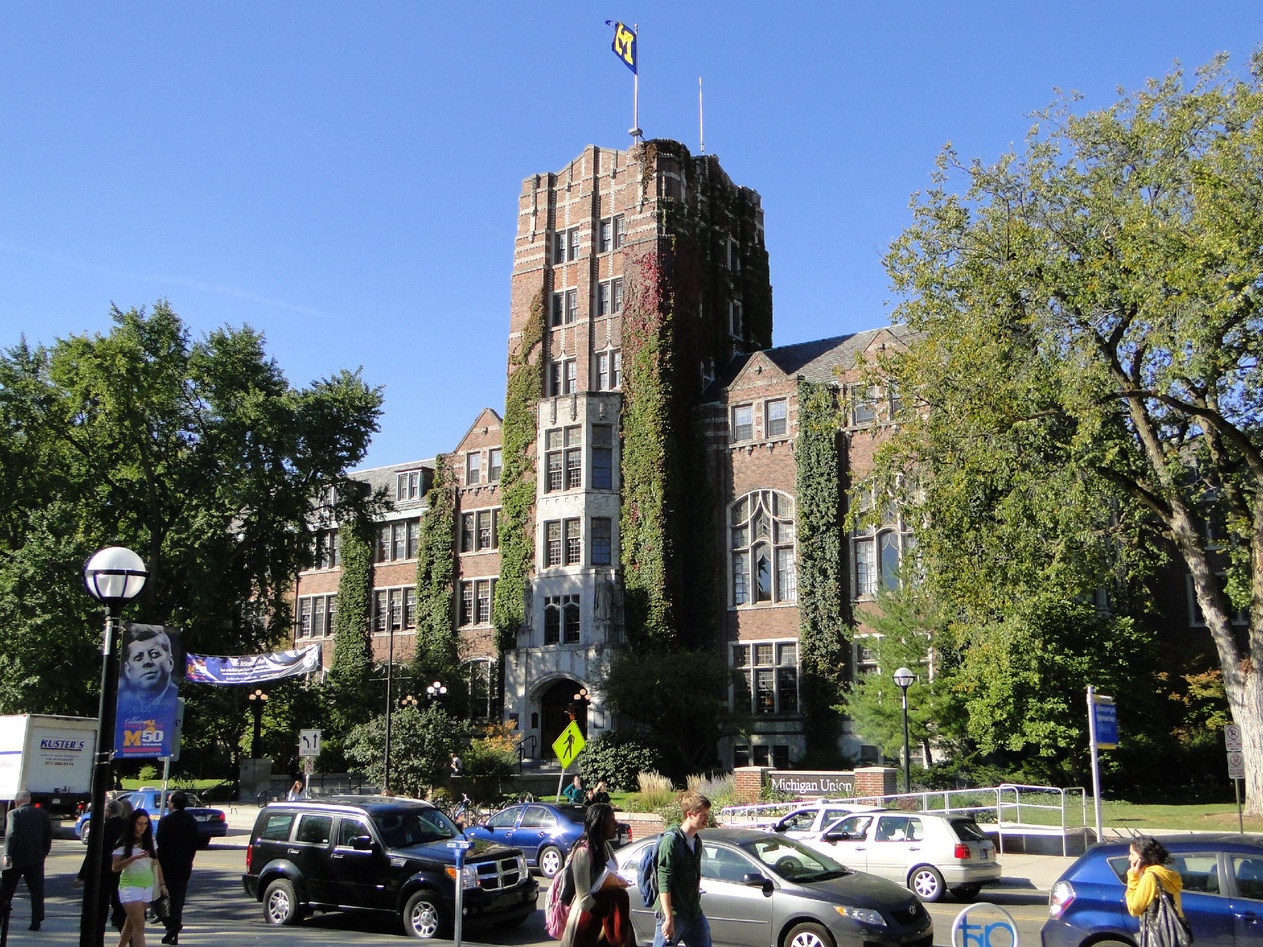 Michigan Union, Ann Arbor, Michigan (Wikimedia Commons, Creative Commons)