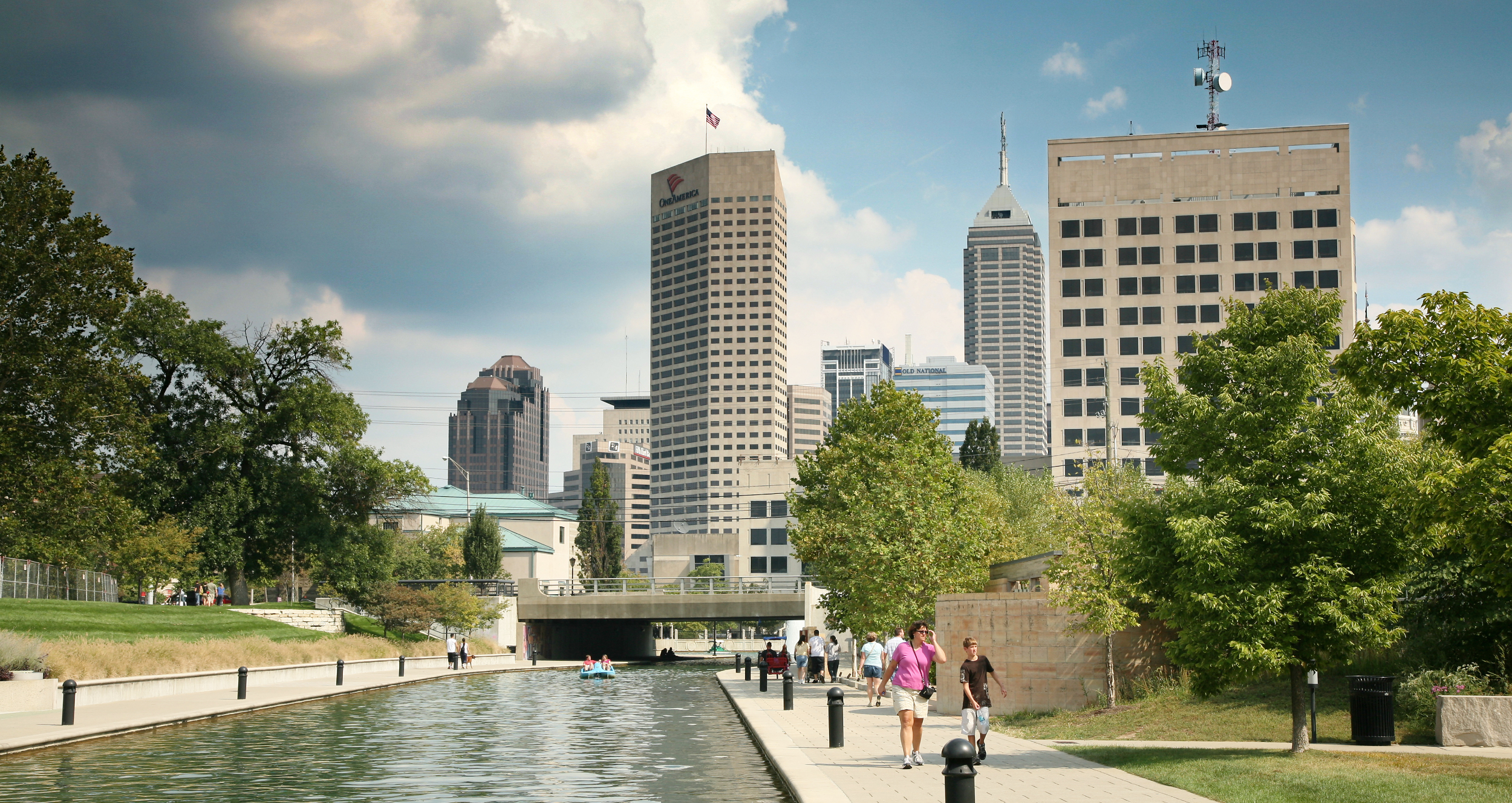 Indianapolis Central Canal, Indianapolis, Indiana (Daniel Schwen/Wikimedia Commons, Creative Commons)