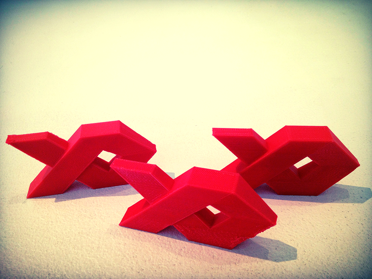 Mini Redfish logos were 3D printed by Makerbot's 3D printer on Newbury Street, Boston, MA.