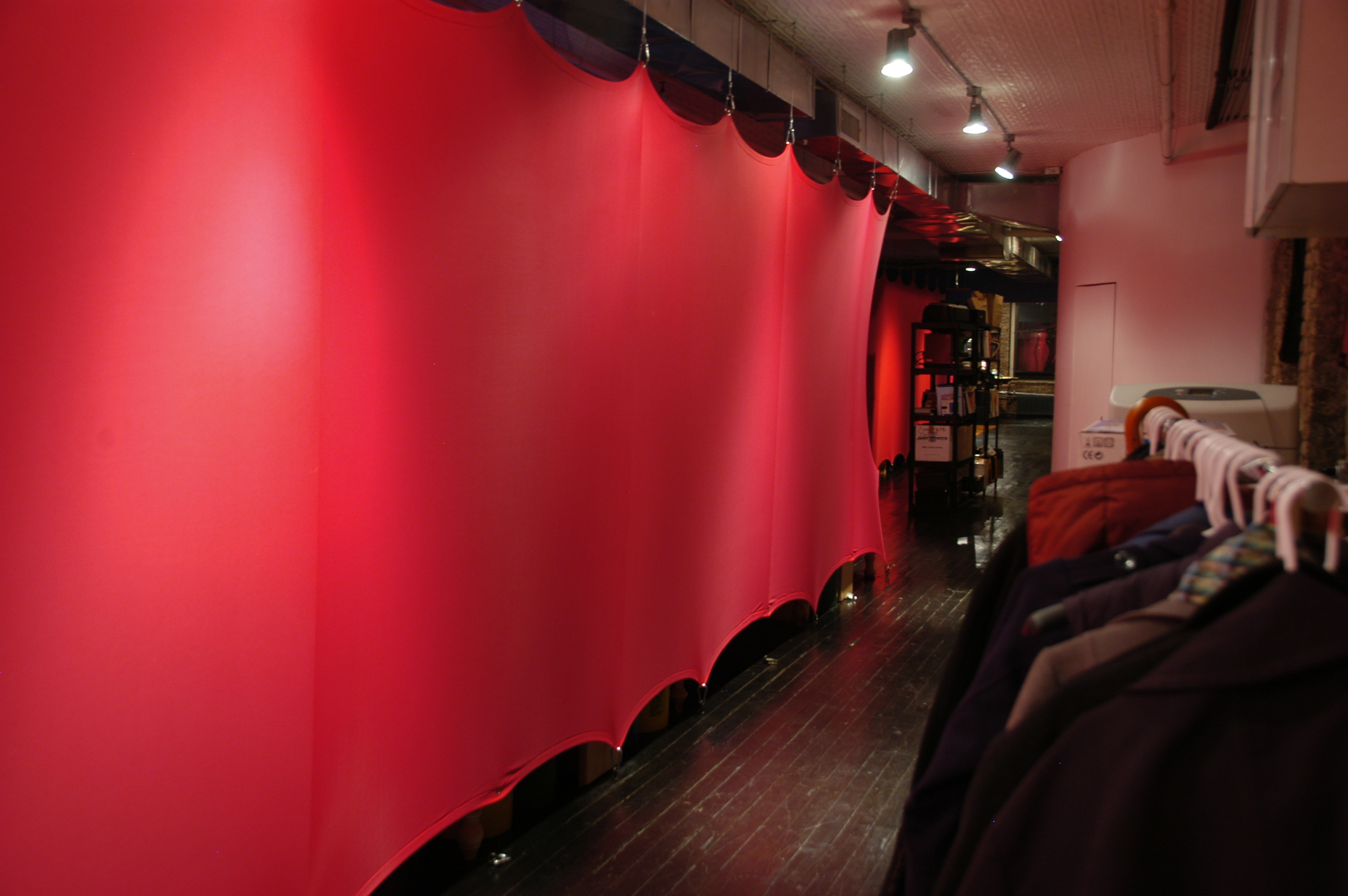 Stretched Fabric Walls.