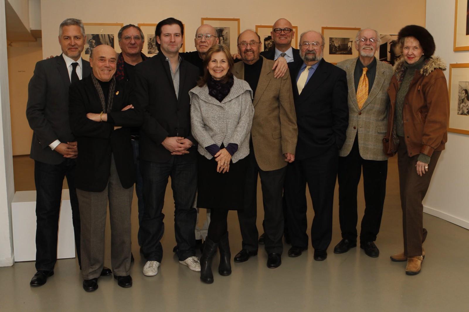 Advisory Board Meeting with a bunch of X-Presidents. George Lois, Paul Lavoie, Richard Wilde, Bill Oberlander, Kurt Haiman, Ed Brodsky, and Eileen Hedy Shultz.   Kurt Haiman