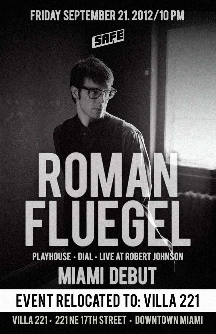 Roman Flügel makes his Miami Debut with us on Friday September 21st at Villa 221.