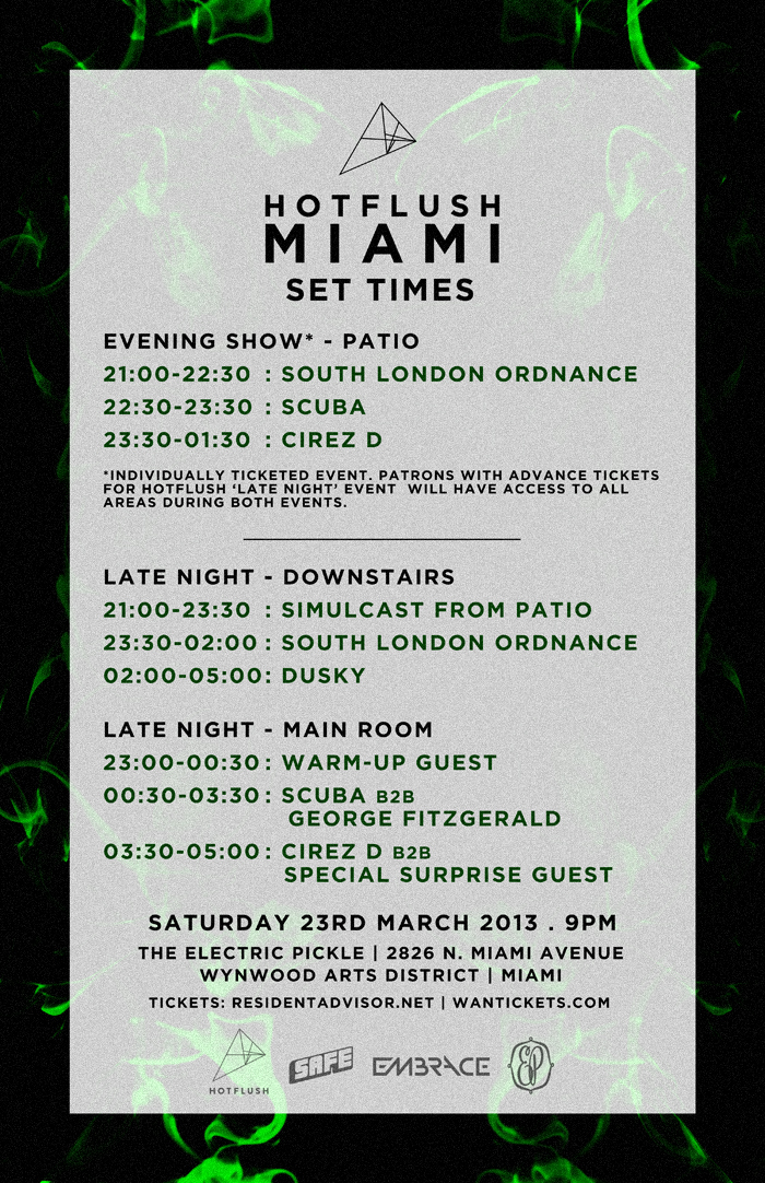 Set Times.  click to enlarge