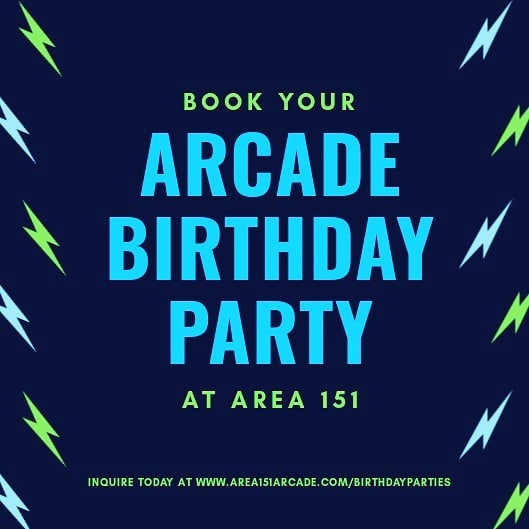 Have a birthday coming up? Host it at Area 151 Arcade!  Whether your event is small or large, we have party packages that fit your needs and make planing stress-free.  Click the link in our bio to inquire today! _  #area151 #area151arcade #arcadegames #birthdayparty #losaltos #arcadegames