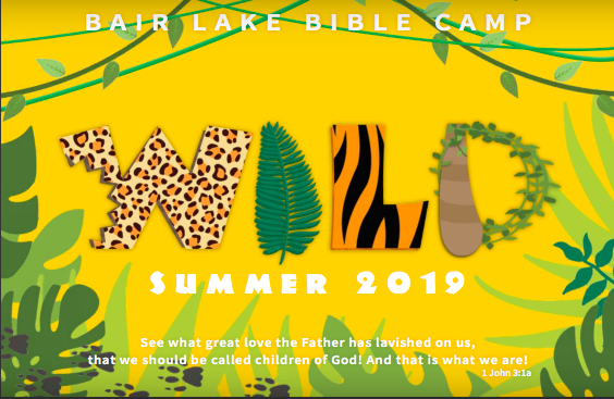 Click on picture to be directed to the registration form. This form will register your child for Bair Lake Day Camp July 8-12, 2019. REGISTRATION DEADLINE is June 9th, 2019. Register before May 19th and received $5 to spend in the camp store! Cost for camp is $200, scholarships are available.