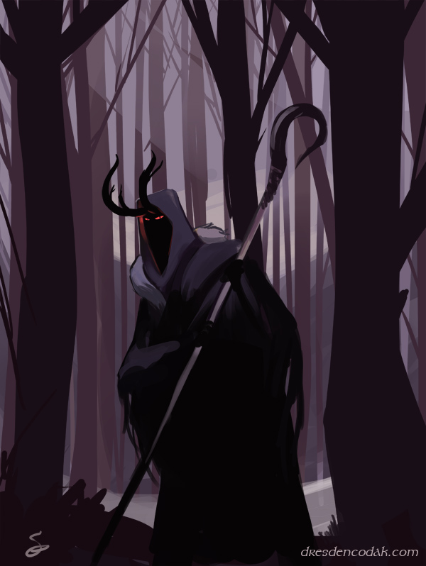 dresdencodak :     A very quick speed painting of The Necromancer of Dol Guldur!