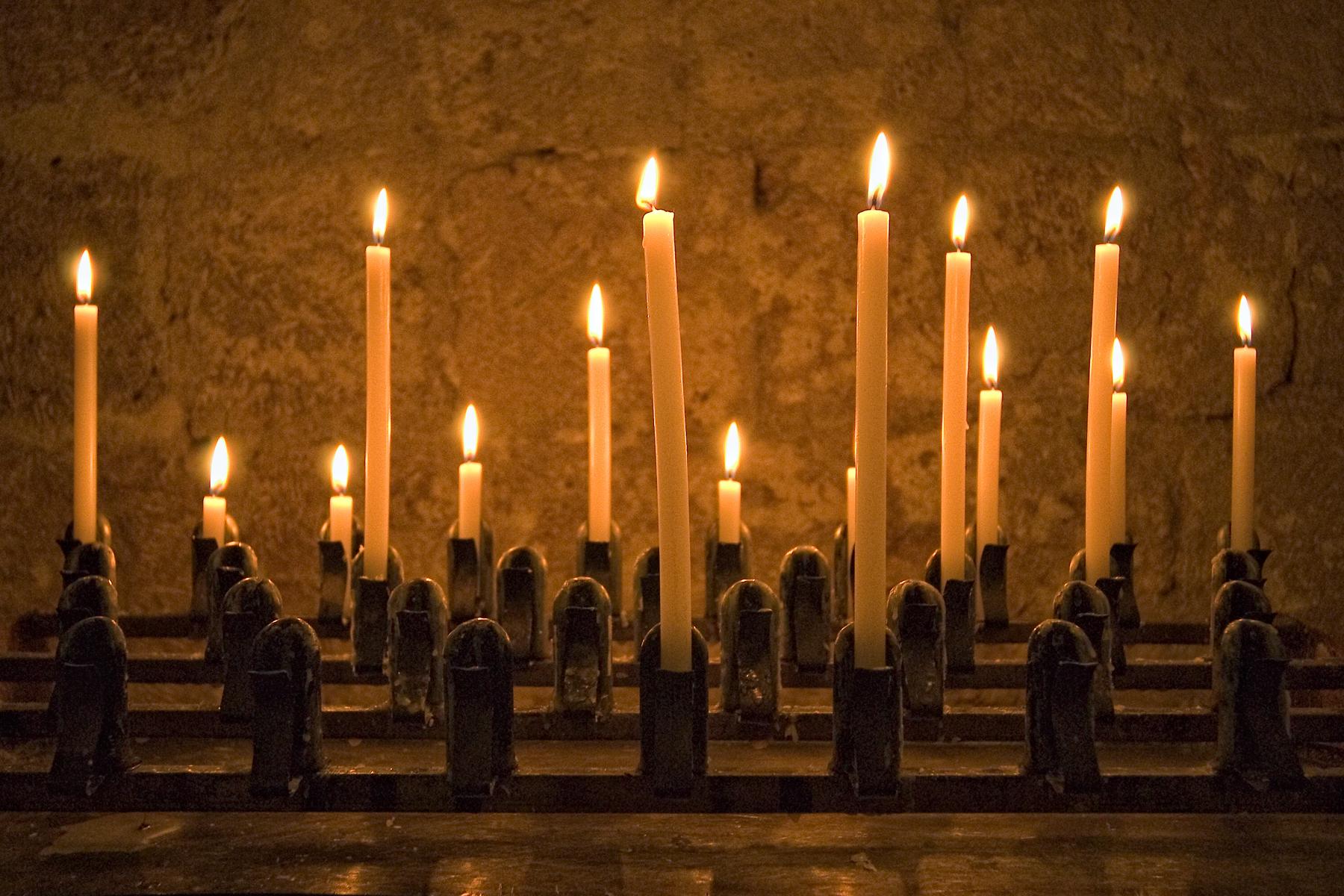 candles, tuscany