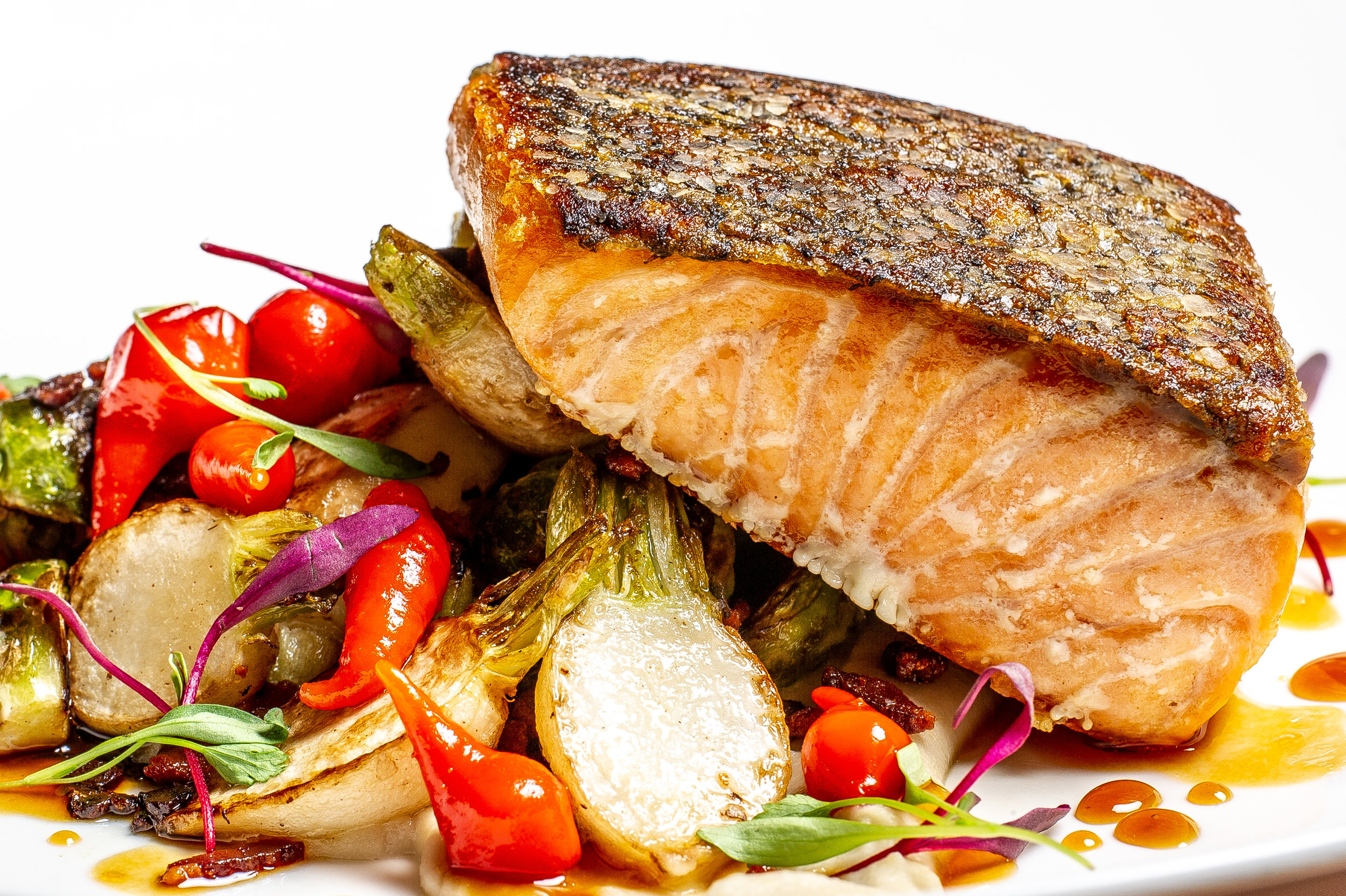 Pan Seared Organic Salmon