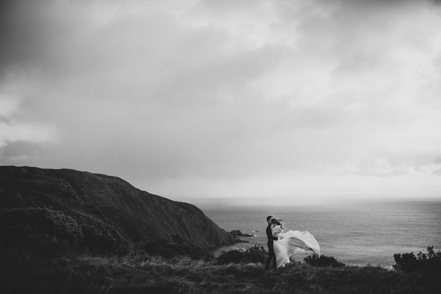 Wild boomrock coast wedding photography