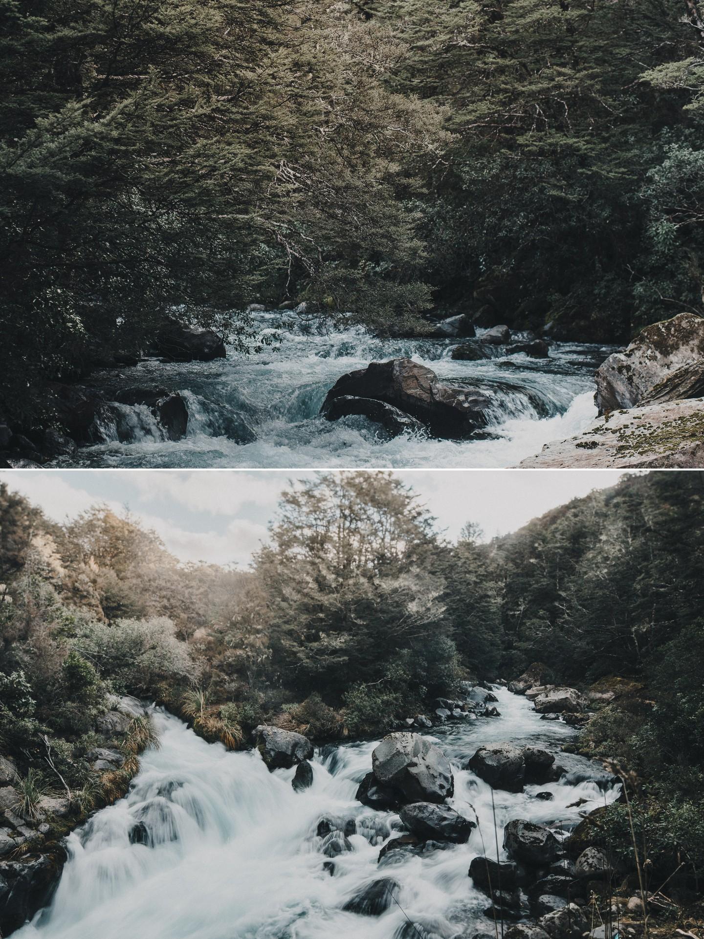 Tongariro crossing alpine river