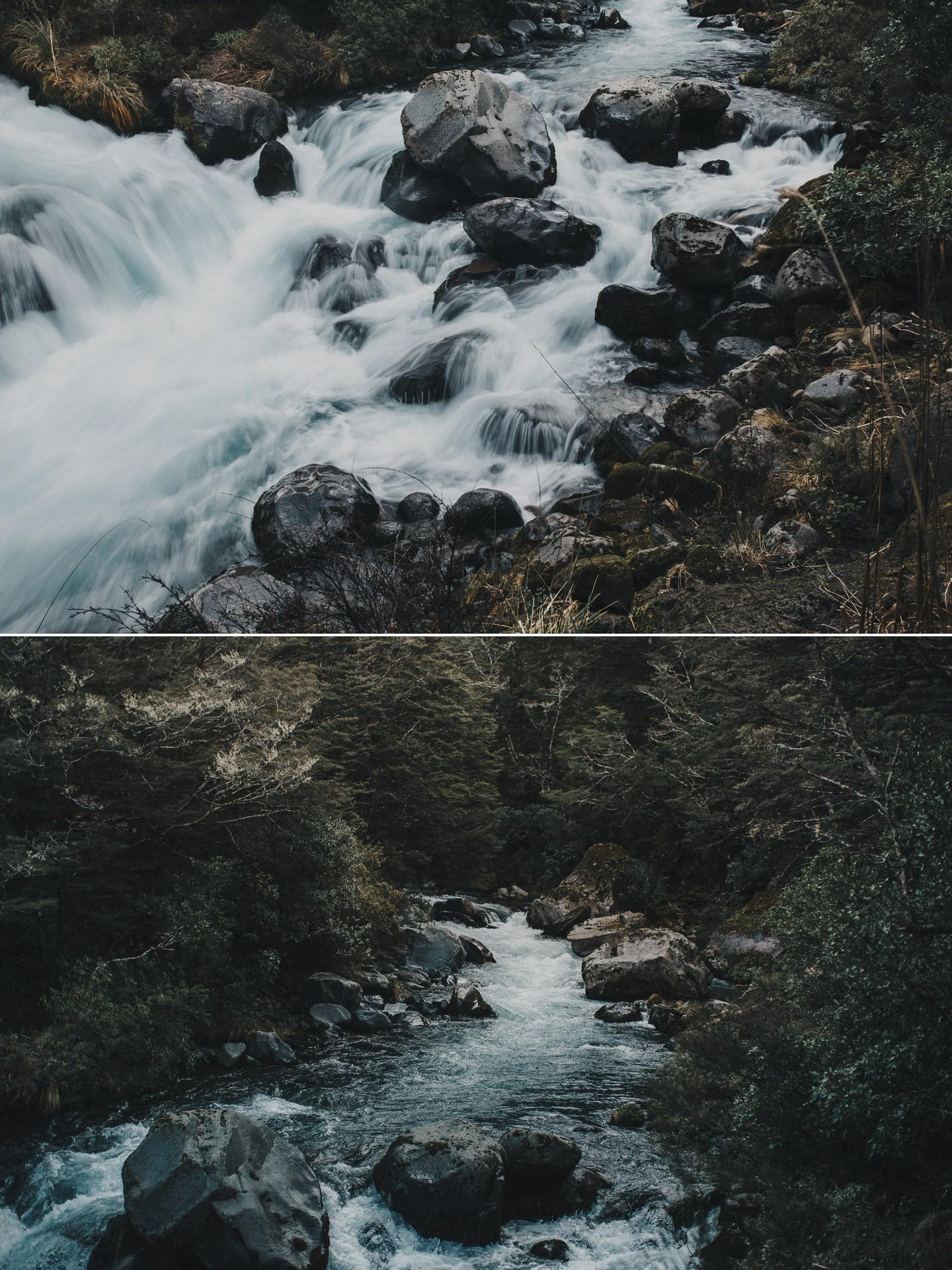 New Zealand wilderness mountain rivers